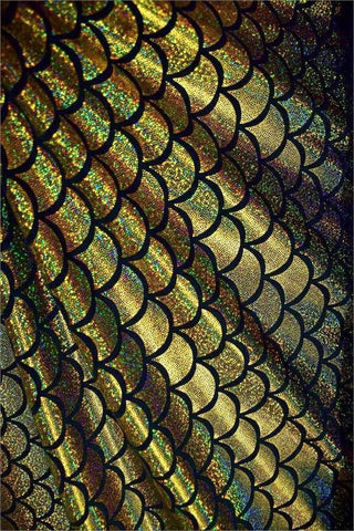ea8bb939c7 ... Gold Dragon Scale Fabric - Coquetry Clothing ...