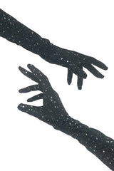 Star Noir Gloves - Coquetry Clothing