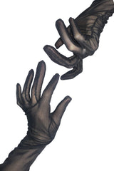 Black Mesh Gloves - Coquetry Clothing