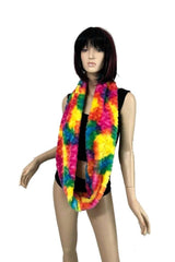 Rainbow Candy Minky Infinity Scarf - Coquetry Clothing