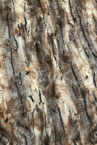 Amber Fox Minky Faux Fur Fabric - Coquetry Clothing