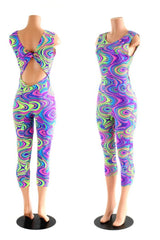 Glow Worm Neon Twist Back Jumpsuit - Coquetry Clothing