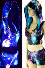 UV Galaxy Zippered Hoodie Set - Coquetry Clothing