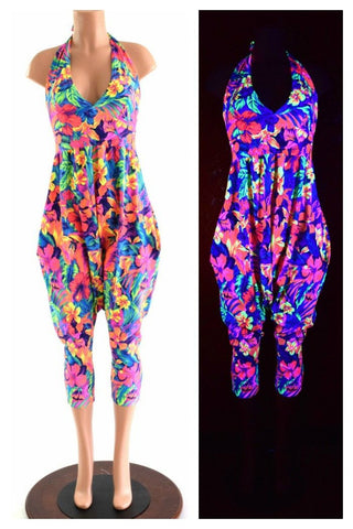 Halter Top Drop Crotch Harem Jumpsuit