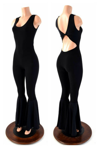 Black Zen Twist Back Catsuit - Coquetry Clothing
