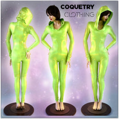 Spacey Stacey Alien Catsuit - Coquetry Clothing