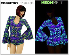 UV Glow Neon Melt Fabric - Coquetry Clothing