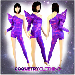 Bowie Inspired Grape Purple Holographic Set - Coquetry Clothing