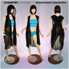 Hooded Racerback Capelette - Coquetry Clothing