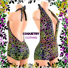 """Josie"" Romper in Poisonous - Coquetry Clothing"