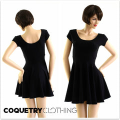 Black Zen Soft Knit Skater Dress - Coquetry Clothing