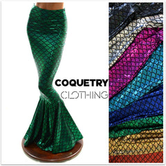 High Waist Mermaid Skirt - Coquetry Clothing