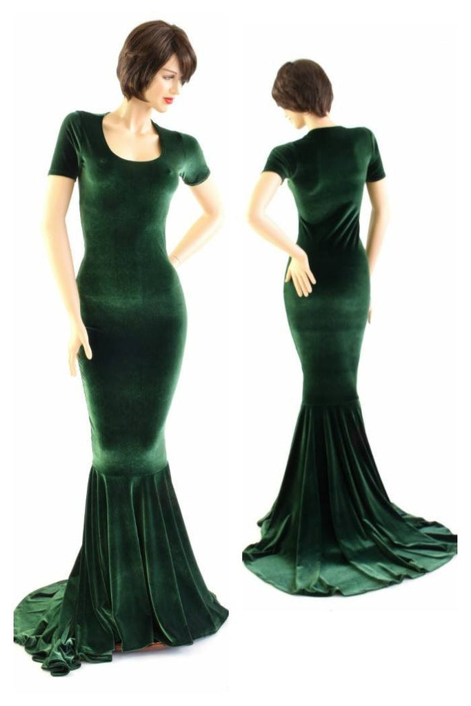 Forest Green Velvet Gown – Coquetry Clothing