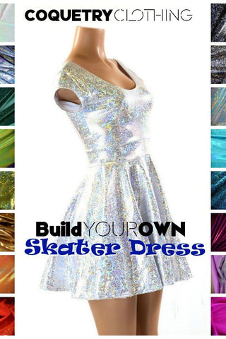 Build Your Own Cap Sleeve Skater Dress - Coquetry Clothing