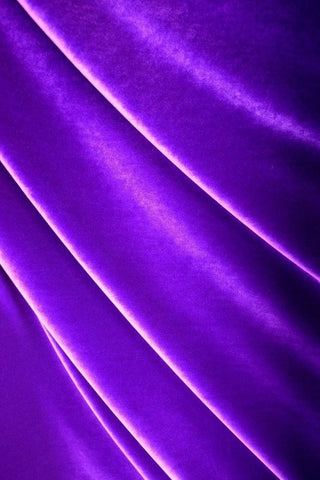 Purple Stretch Velvet Fabric - Coquetry Clothing