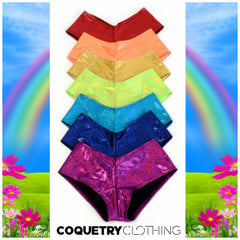 "7PC ""Rainbow Pack"" Cheeky Booty Shorts - Coquetry Clothing"