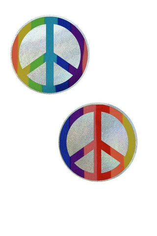 Rainbow Peace Sign Pasties - Coquetry Clothing