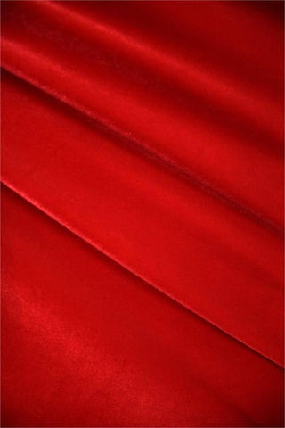 Red Stretch Velvet Fabric - Coquetry Clothing