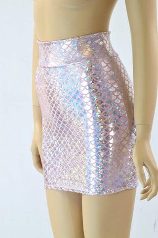 Pink Bodycon Mermaid Skirt