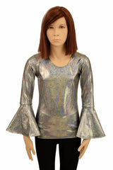 Girls Silver Gypsy Full Length Top - Coquetry Clothing