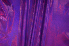 Grape Purple Holographic Spandex Fabric - Coquetry Clothing