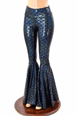 Black Mermaid Bell Bottoms - Coquetry Clothing