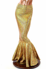 Gold Scale High Waist Mermaid Skirt - Coquetry Clothing