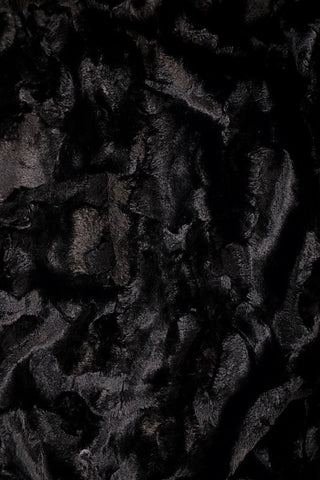 Black Minky Faux Fur Fabric - Coquetry Clothing