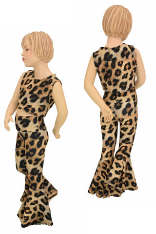 Girls Leopard Flares & Top Set - Coquetry Clothing