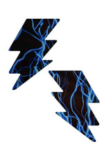 Blue Lightning Bolt Pasties - Coquetry Clothing