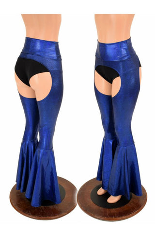 High Waist Bell Bottom Flare Chaps - Coquetry Clothing