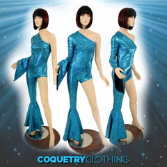 Bowie Inspired Turquoise Catsuit - Coquetry Clothing
