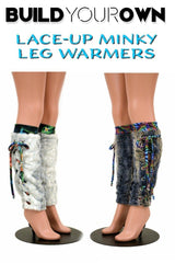 Build Your Own Lace Up Minky Leg Warmers - Coquetry Clothing