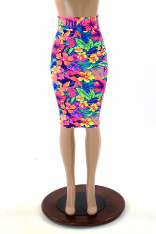 "27"" Tahitian Floral Pencil Skirt"