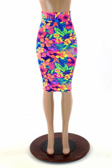 "27"" Tahitian Floral Pencil Skirt - Coquetry Clothing"