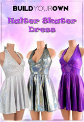 Build Your Own Halter Skater Dress - Coquetry Clothing