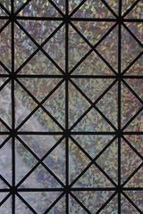 Silver on Black Cracked Tiles Fabric - Coquetry Clothing