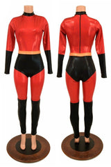 2PC Catsuit & Siren Shorts Set - Coquetry Clothing