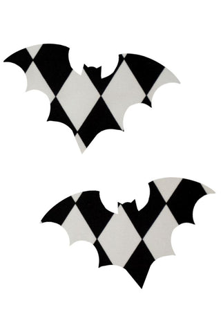 Black & White Bat Pasties - Coquetry Clothing