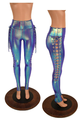 Moonstone Lace Up Leggings - Coquetry Clothing