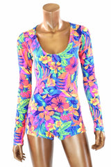Tahitian Floral Romper - Coquetry Clothing