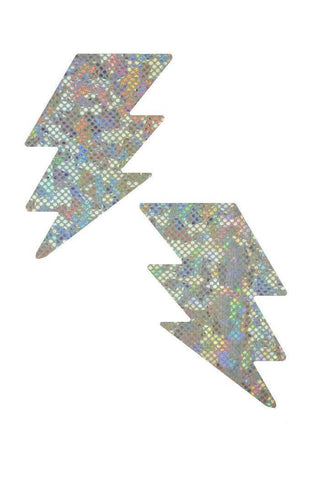 Frostbite Holographic Bolt Pasties - Coquetry Clothing