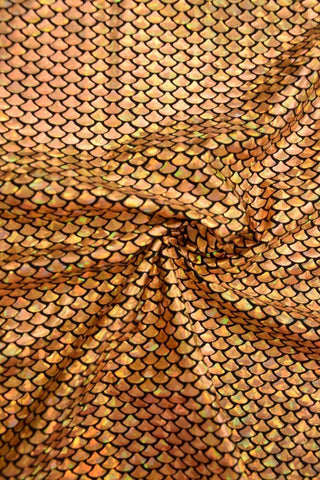 Gold Fish Scale Fabric - Coquetry Clothing