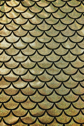 Gold Dragon Scale Fabric - Coquetry Clothing