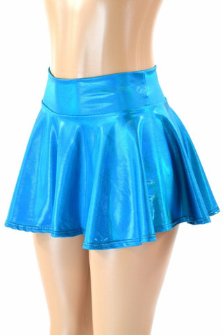 Peacock Holographic Rave Mini Skirt - Coquetry Clothing
