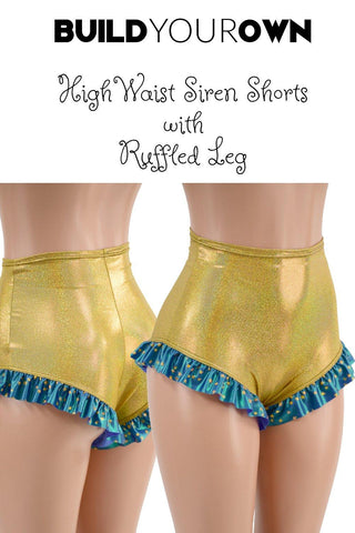 Build Your Own High Waist Siren Shorts with Ruffled Leg - Coquetry Clothing