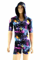 UV Glow Galaxy Print Spandex - Coquetry Clothing