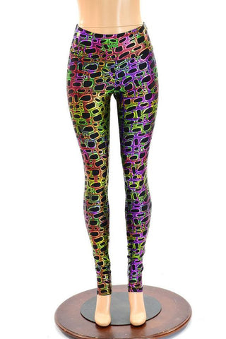 Poisonous High Waist Leggings - Coquetry Clothing