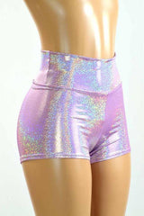 Lilac Holographic Sparkly Jewel Fabric - Coquetry Clothing