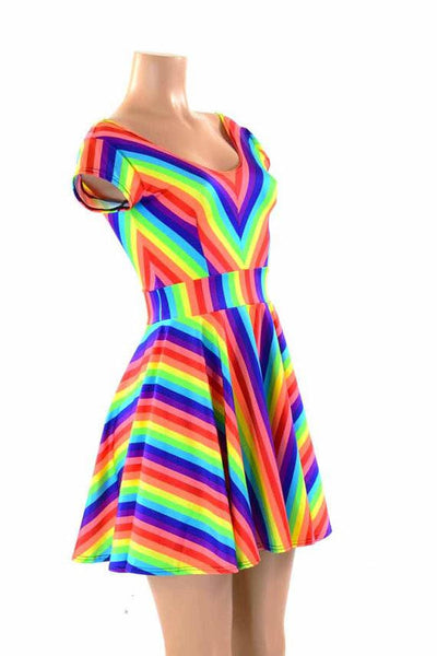 Rainbow Stripe Fabric Coquetry Clothing